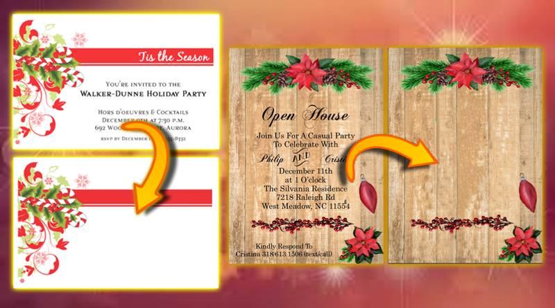 Δημιουργία πρόσκλησης για χριστουγεννιάτικη εκδήλωση 2